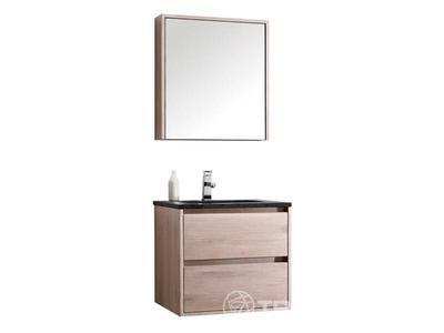 Luxury wellness LW-BM-E-601N massief eiken badkamermeubel 1-persoons met spiegelkast