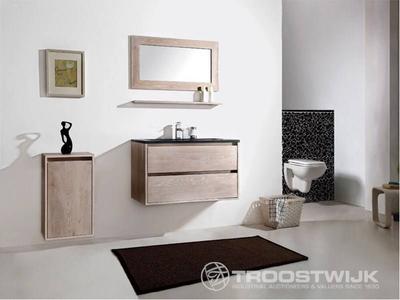 Luxury wellness LW-BM-E-901W massief eiken badkamermeubel 1-persoons